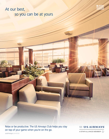 US Airways Club Promotional Material